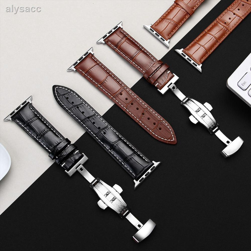 สายนาฬิกาข้อมือหนังสําหรับ Apple Watch Strap Series 5 / 4