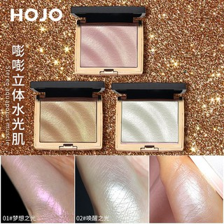HOJO Three-dimensional High-gloss Pressed Powder Contouring Palette Partially Brightens Shadow Contouring Powder Fine Fl