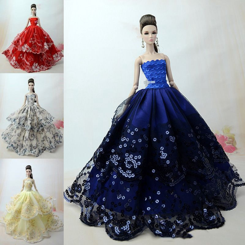 4 x Fashion Princess Dress//Wedding Clothes//Gown For 11.5in.Doll