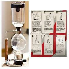 CAF อุปกรณ์ชงกาแฟ เครื่องทำกาแฟแบบ syphon ขนาด 3 แก้ว ทำกาแฟแบบญี่ปุ่น ที่ชงกาแฟ