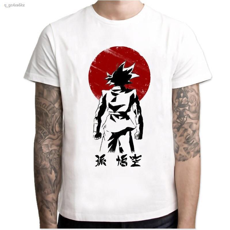 จัดส่งที่รวดเร็ว㍿✽Newest Dragon Ball T Shirt Super Saiyan Dragonball Z Dbz Son Goku Capsule