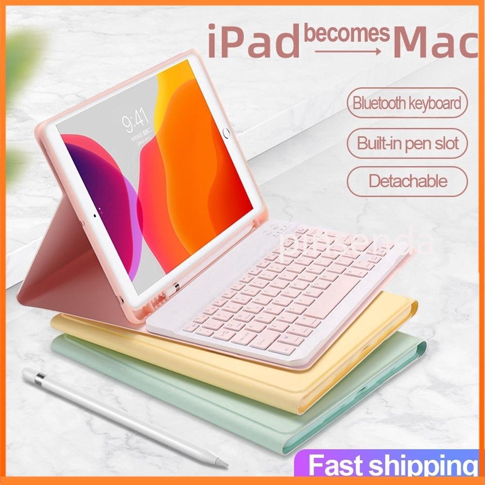 【iPad Case+Keyboard】Portable Bluetooth Keyboard Pencil Holder Leather Case for Apple iPad Pro 11 Mini 5/4/3/2 iPad 10.2