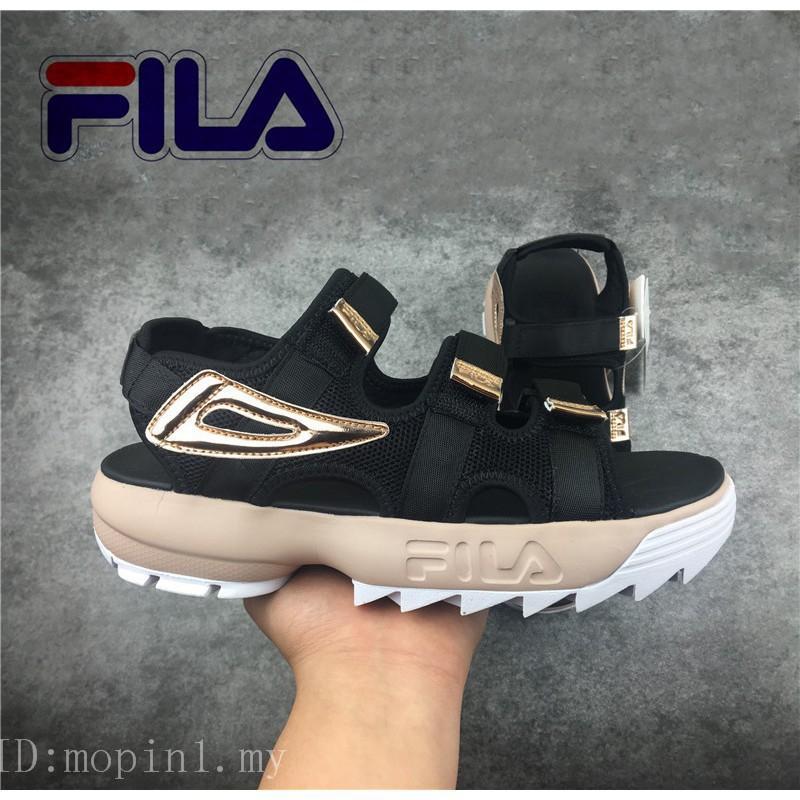 ฟีล่า รองเท้าผู้ชาย รองเท้าผู้หญิง รองเท้าผ้าใบ Fila New Original DISRUPTOR 2 MC รองเท้าแตะแฟชั่นสำหรับผู้ชายและผู้หญิง