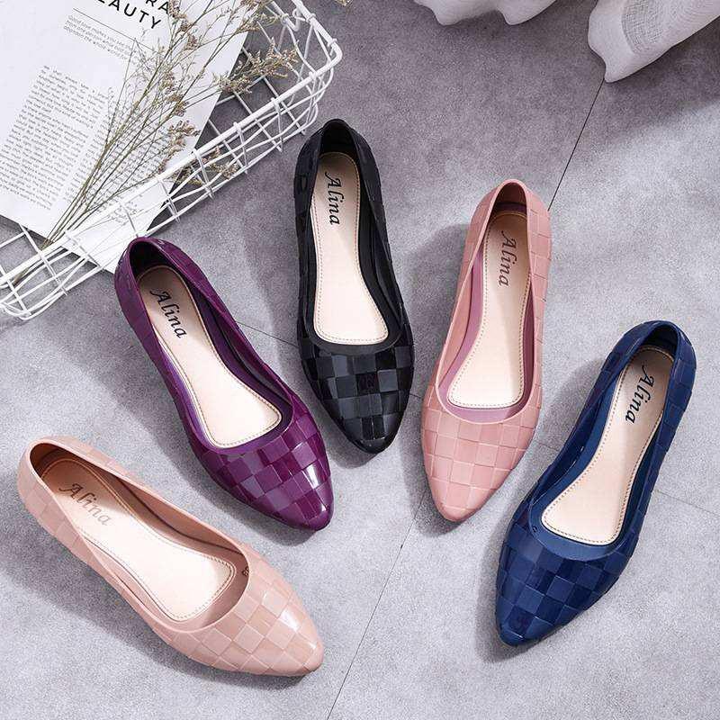 HM 55 รองเท้าคัชชูผู้หญิง เนื้อยางอย่างดีพื้นนิ่ม สวมใส่สบาย  มี 5 สี CC6