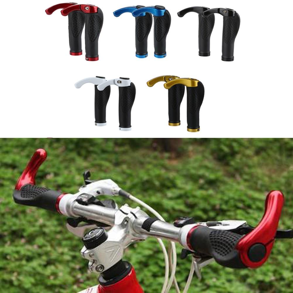 2pcs Bike Mountain Bicycle MTB Handlebar Rubber Handle Grips Anti-slip Gadgets Q