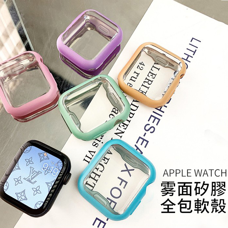 For Apple Watch Series 6 5 4 3 2 1 Watch Cover Case 38mm 42mm 44mm 40mm Screen Protector TPU Cover