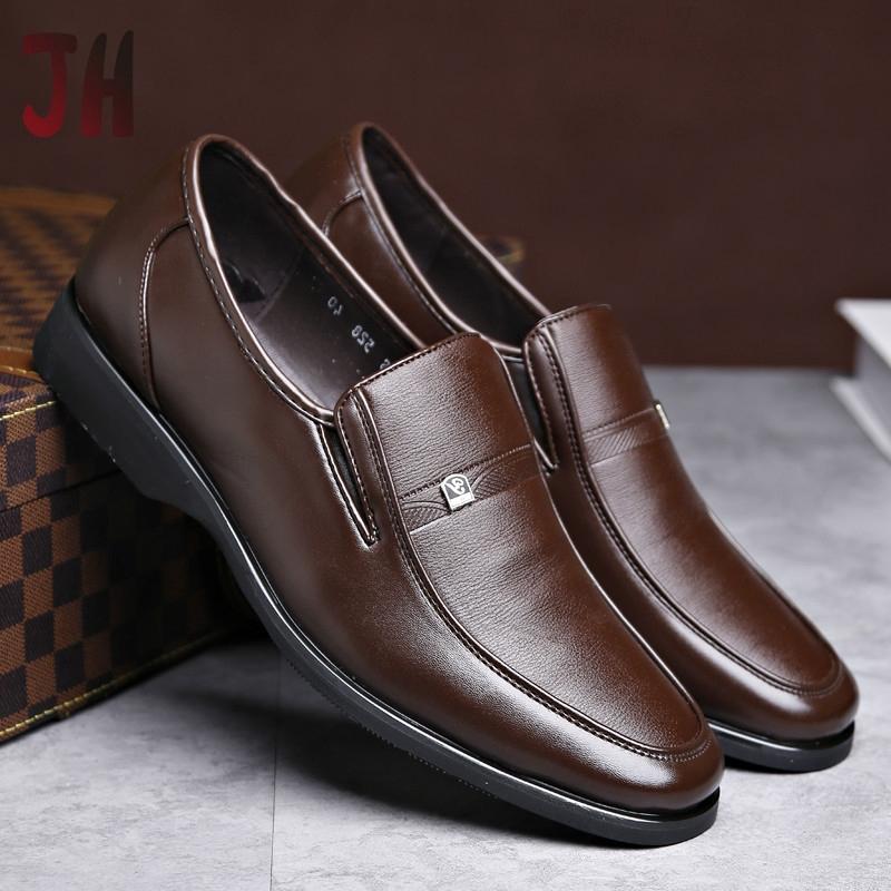 JH✨ รองเท้าหนังแท้ รองเท้าหนังแฟชั่น รองเท้าหนังแบบผูกเชือก รองเท้าคัชชู รองเท้าโลฟเฟอร์ ผู้ชาย loafer รองเท้า 02