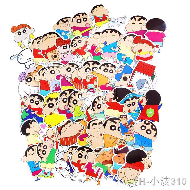 ส่วนลดปริมาณมาก >กระเป๋าเดินทาง Crayon Shin-chan 32 ชิ้น, กระเป๋าเดินทางล้อลาก, กีตาร์, สติ๊กเกอร์ PVC, สติ๊กเกอร์กันคิ้