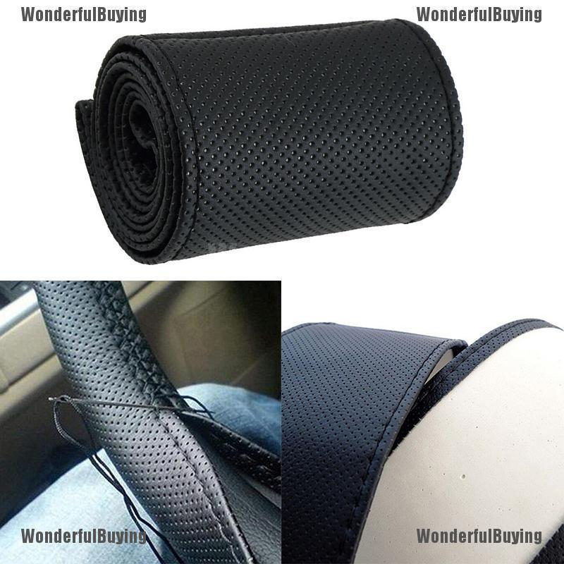 Review New Car Truck Leather Steering Wheel Cover ที่ครอบพวงมาลัย