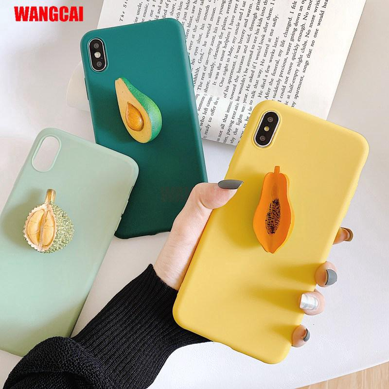 Review Huawei Y7 Pro 2019 Y9 Y7 Pro Y6 Prime 2018 Honor 7A Case Cute 3D Summer Fresh Fruit Avocado Durian Papaya Soft Cover