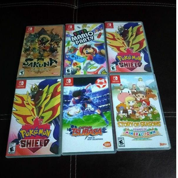 แผ่นเกมส์NintendoSwitchมือสอง Tsubasa, Pokemon Sword Shield,Story,Sakuna,MarioParty