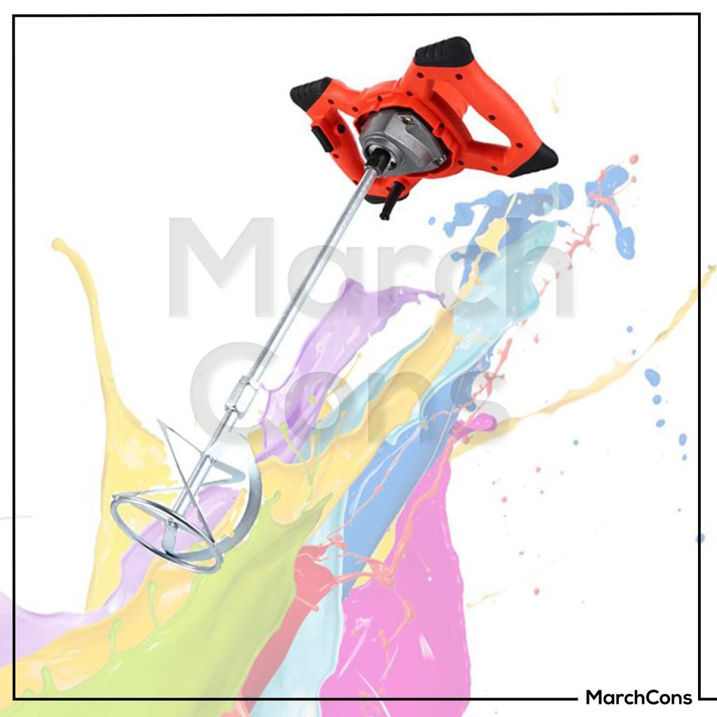 เครื่องผสมสี กวนสี ผสมสี กวนปูน เคมี ยาว 60 ซม. - 100 ซม.  ( คละสี แดง / น้ำเงิน )