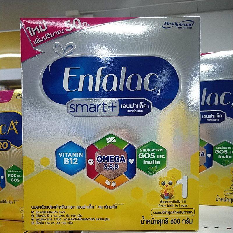 ขายยกลัง=12กล่องEnfalac Smart +สูตร 1 ขนาด 600 กรัม
