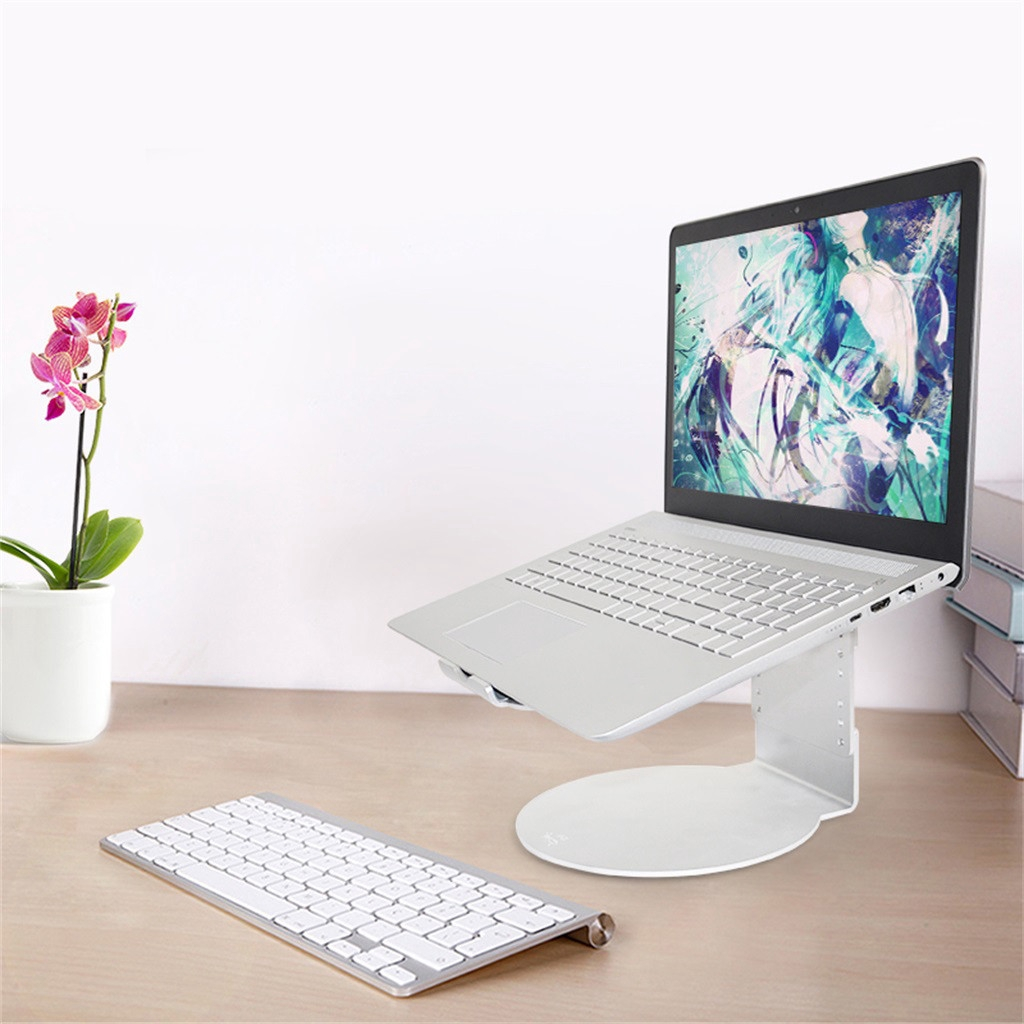 Macbook Pro Vertical Stand Holder Adjustable Dock Aluminum Desk Space Saver