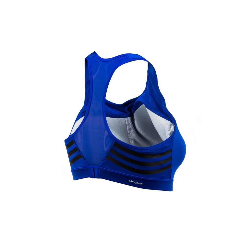 New adidas Women/'s Climacool Pad Bra Running Top Various Sizes Blue