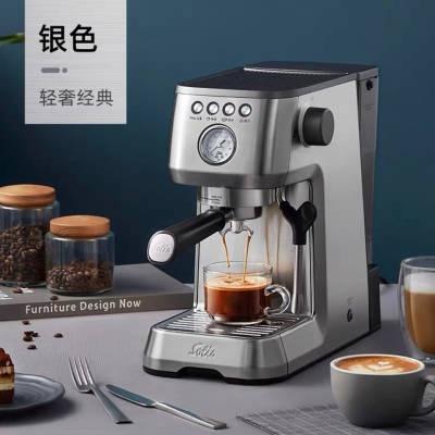 ◉◌Solis เครื่องชงกาแฟเอสเปรสโซกึ่งอัตโนมัติ Nespresso เครื่องทำฟองนมใช้ในครัวเรือนขนาดเล็กของแท้