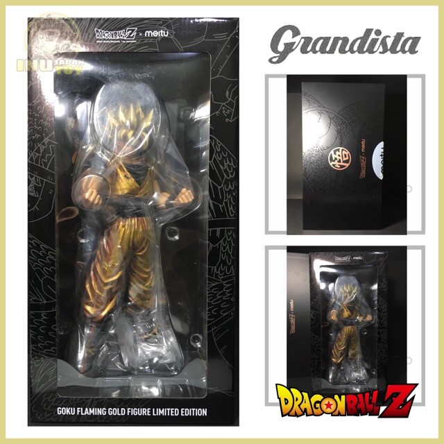 [LIMITED EDITION] DRAGON BALL Z GRANDISTA  GOKU FLAMING GOLD FIGURE MANGA DIMENSIONS
