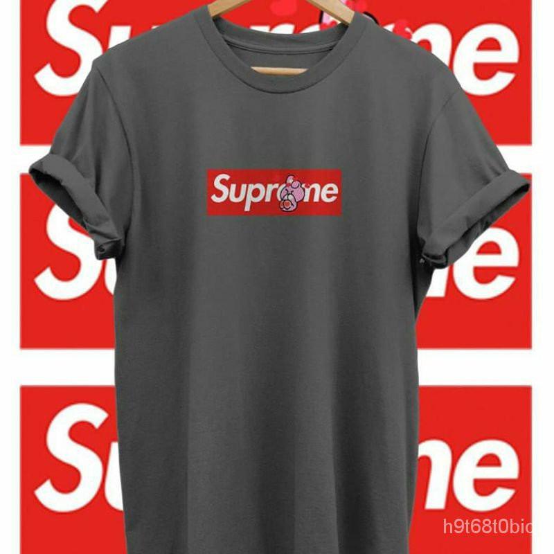 แท้100%เสื้อยืดลายกราฟฟิก Supreme X Bt21