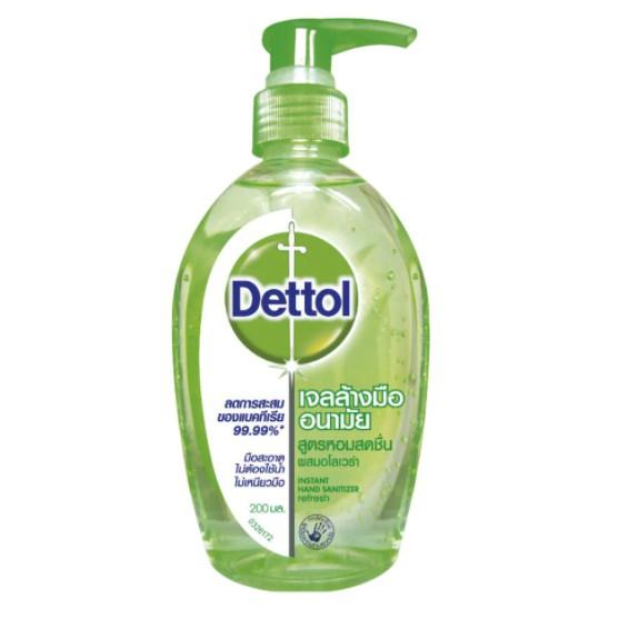 DETTOL เจลล้างมือ ขวดเขียว 200 มล.