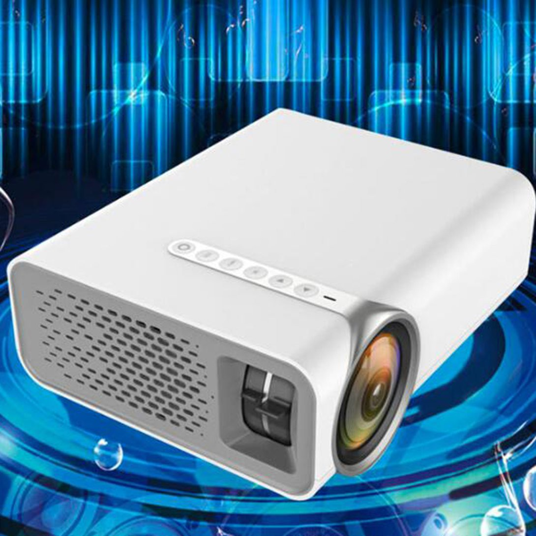 [๕] YG520 home projector Portable LED mini projector Support HD 1080P Home theater Early education training