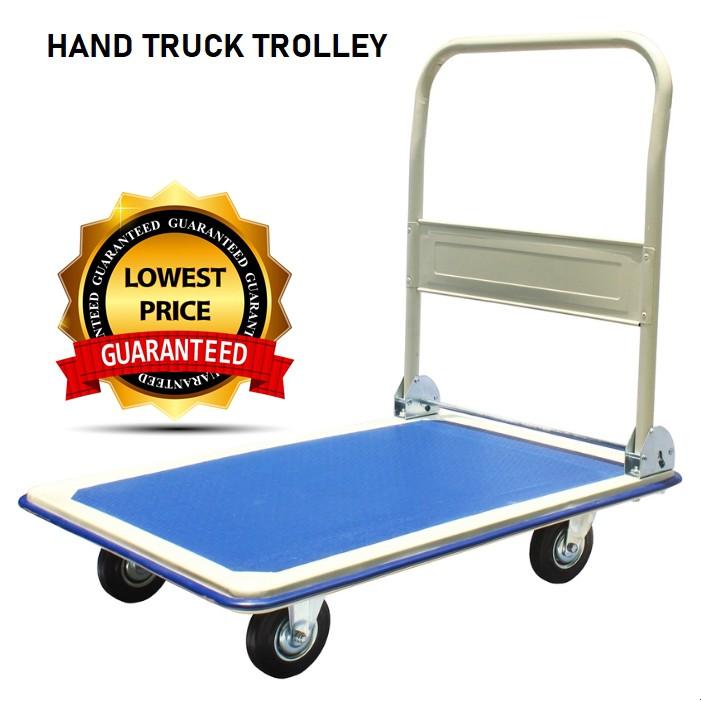 ❦☼□CROCO TRUCK High Quality Iron 150kg 300kg Foldable Platform Hand Trolley Kereta Tolak Besi Bull