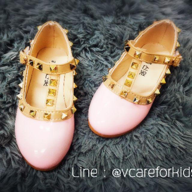 รองเท้าคัชชู เด็กหญิง สีชมพู