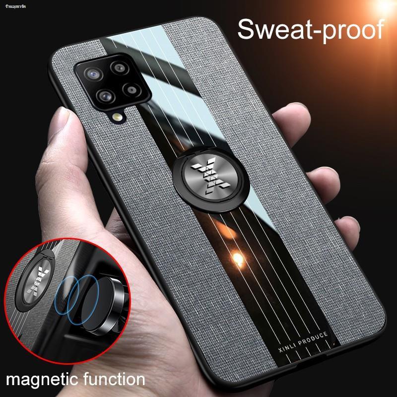 เคส Samsung Galaxy A42 5G ฮาร์ดเคสกันกระแทกเคสโทรศัพท์ Armor Ring Stand Case Back Cover
