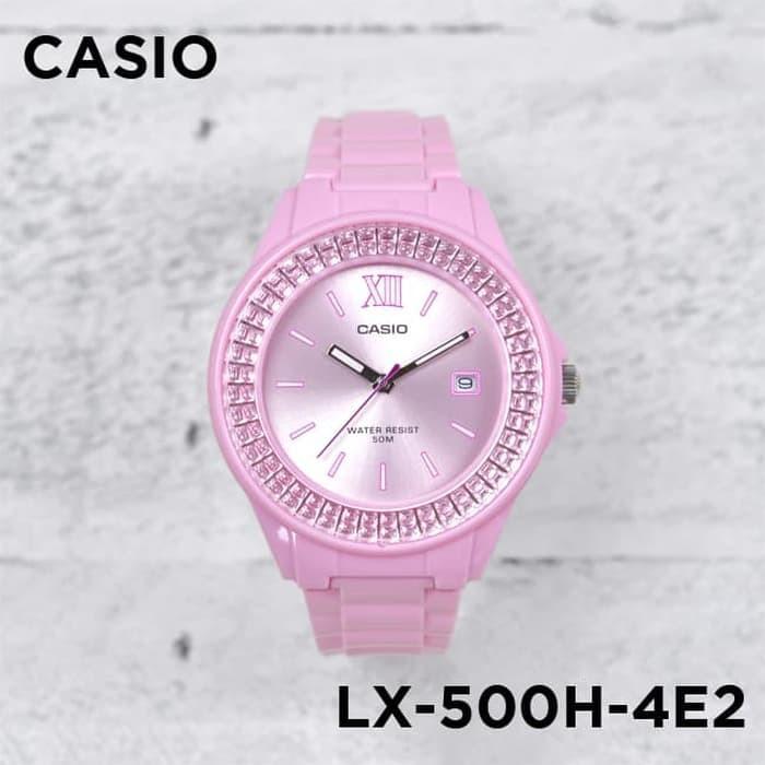 applewatch series 6◐✸แท้ 100 % Casio ชมพู สุดฮิต LX-500H  LX-500H-4E Series ประกัน 1 ปี