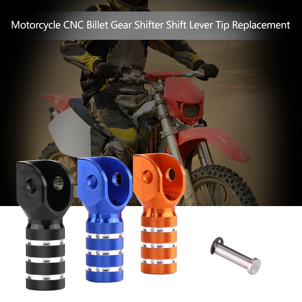 Motorcycle Cnc Billet Gear Shifter Shift Lever Tip Replacement For