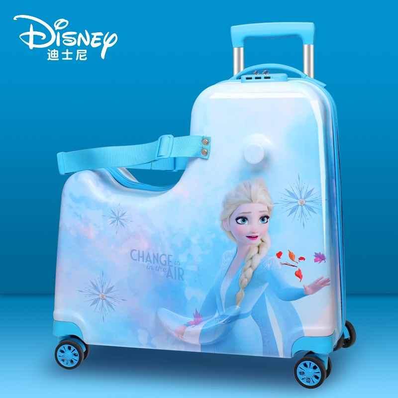 ⅖≊ กล่องเก็บเสื้อผ้ากล่องรถเข็นเด็ก กระเป๋าเดินทาง McGee กระเป๋าเดินทางรถเข็นเด็กเจ้าหญิง Aisha ขี่กระเป๋าเดินทาง Frozen