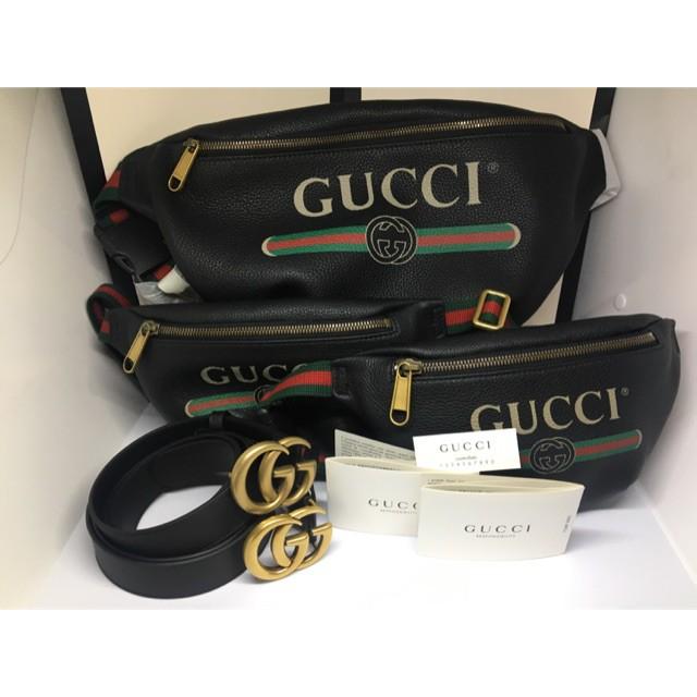 【ใหม่ Gucci belt bag ใหญ่ size 90 คาดอกใบใหญ่