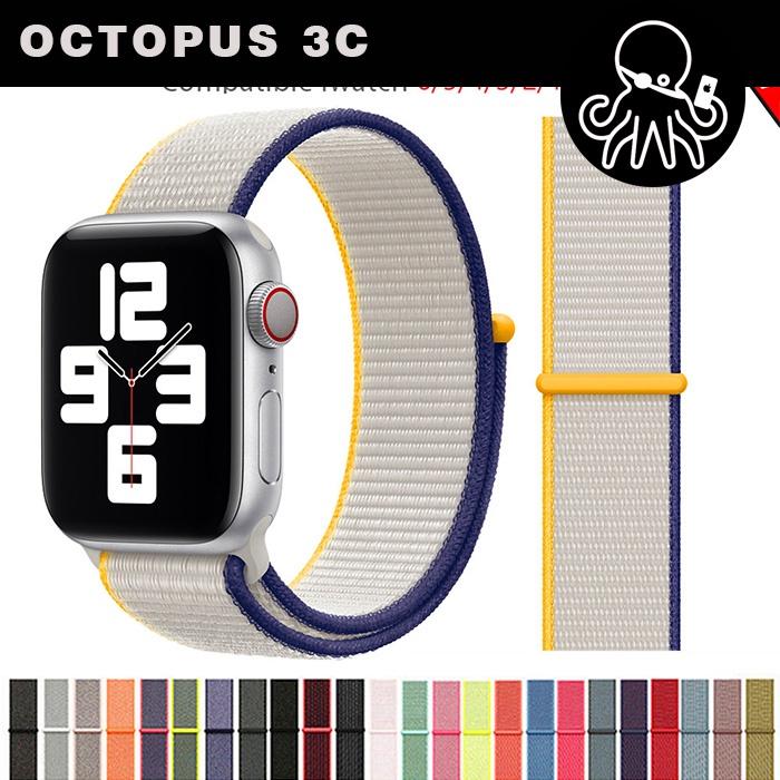 สายนาฬิกาข้อมือไนล่อนสําหรับ Apple Watch Band 44 มม. 40 มม. 42 มม. 38 มม. Iwatch Series 3 4 5 Se 6