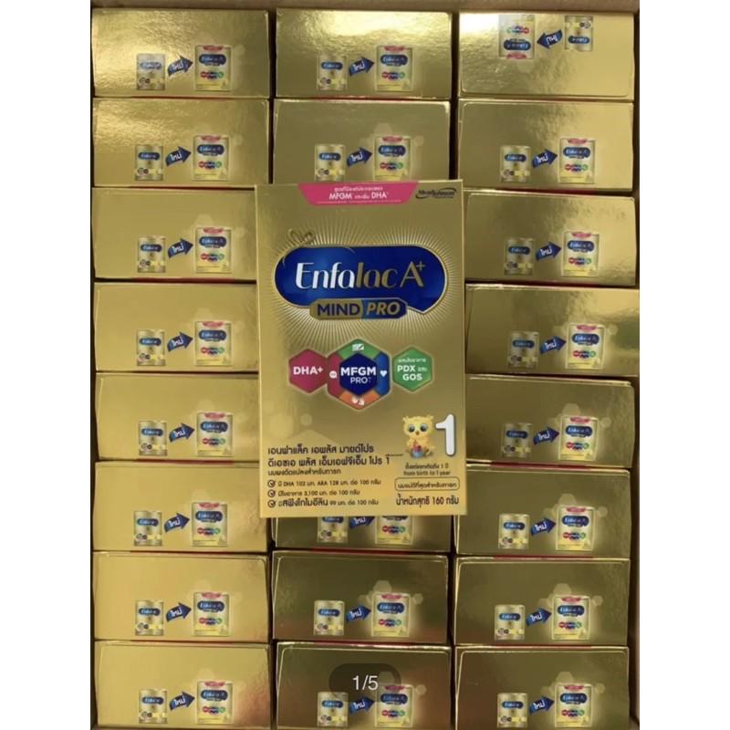 ใหม่! Enfalac A+ Mind Pro สูตร 1 ขนาด 160 กรัม (ขายยกลัง 24 กล่อง = 3,840 กรัม) Exp.03/09/22