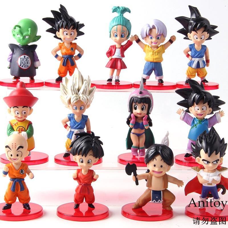 ชอบซื้อฟิกเกอร์ Dragon Ball Z Son Goku Gohan goten vege Dragonball 13 ชิ้น / ชุด