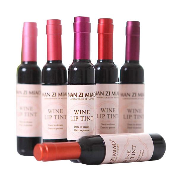 ลิปสติกลิปกลอสสีไวน์แดง กันน้ำได้