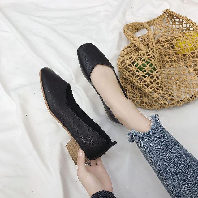 รองเท้าคัทชู หนังนิ่มใส่สบาย 3 สี พร้อมส่งH3