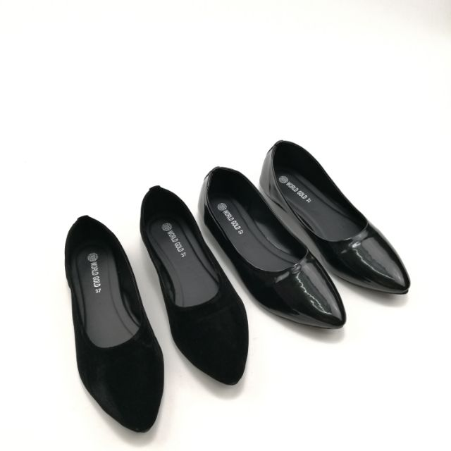 รองเท้าคัชชูดำหัวแหลม มี2 แบบ