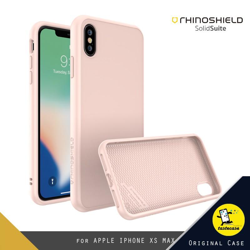 เคสสำหรับ iPhone XS MAX : RhinoShield SolidSuit Classic Blush Pink (สีชมพู)