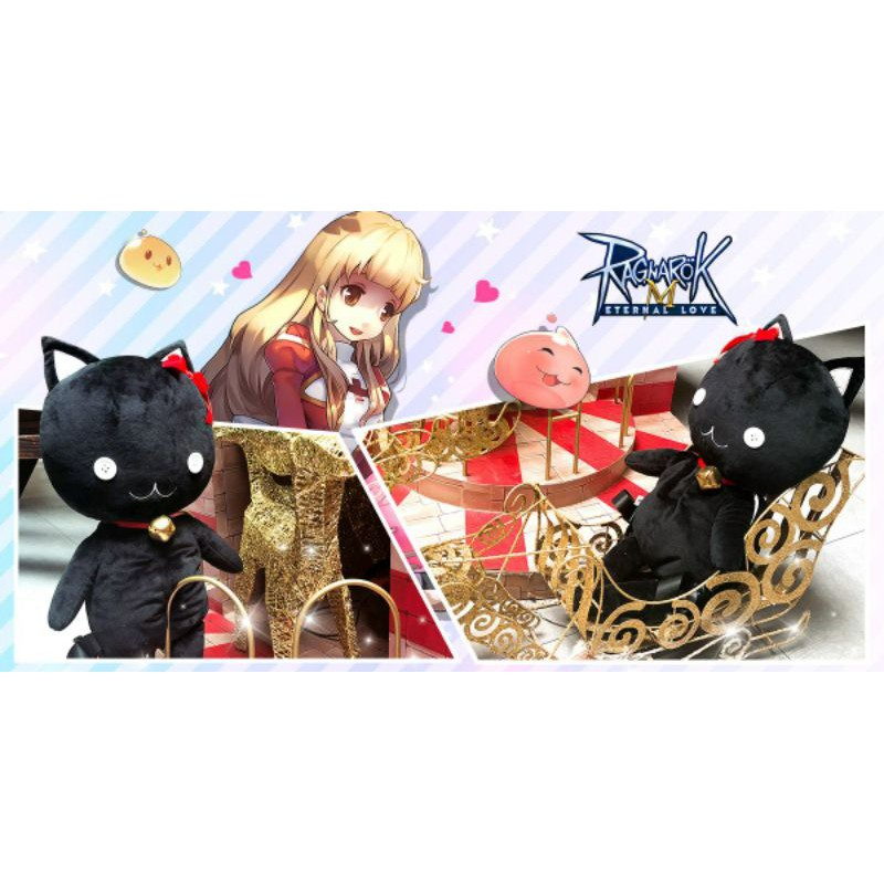 ตุ๊กตากระเป๋าเป้สะพายหลังแมวดำ Ragnarok 🐱⚫ กระเป๋าเป้ ตุ๊กตา แมวดำ มอนเตอร์ เกมส์ Ragnarok Online Black Cat