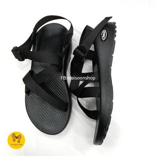 รองเท้าชาย รองเท้ารัดส้น รองเท้าคัชชูผู้ชาย รองเท้าแตะ รองเท้ารัดส้นผู้ชาย Chaco Original รุ่น C1 สีดำ