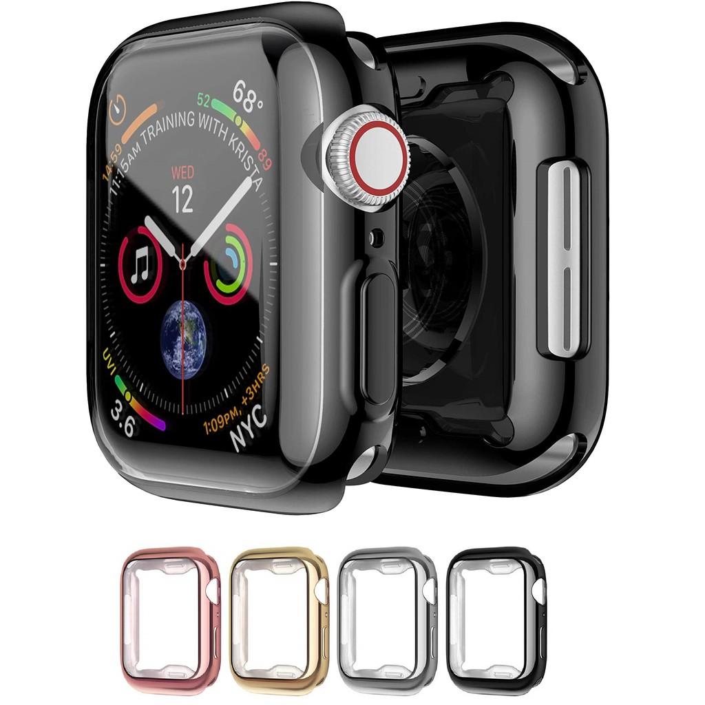 เคส Apple Watch Case พร้อมตัวป้องกันหน้าจอ 38/40/42/44mm ปก TPU อ่อน สำหรับ iWatch Series SE 6/5/4/3/2/1