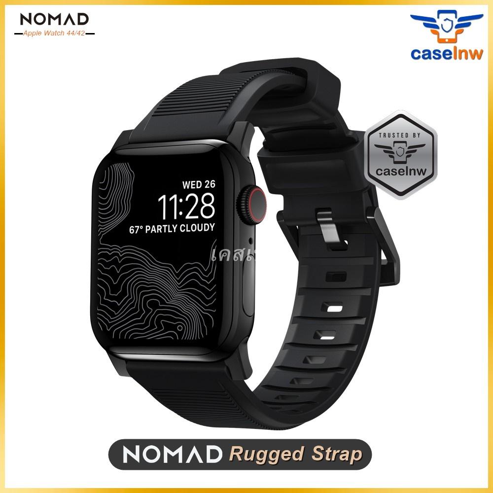 [Apple Watch 6/SE] สายหนังแท้ NOMAD Rugged Strap สำหรับ Apple Watch ขนาด 44 มม. Series SE / 6 / 5 / 4