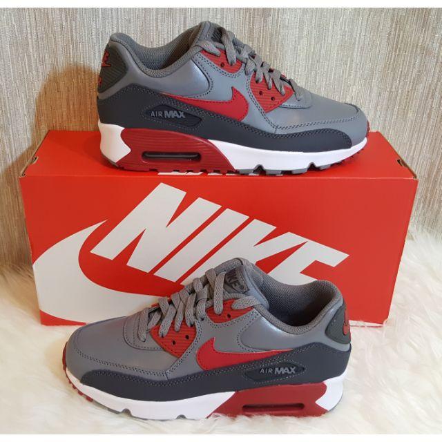 ขาย รองเท้า Nike AirMax 90 LTR GS   ของใหม่ มือ 1 ของแท้ 100% ค่ะ  สีเทา-แดง ค่ะ