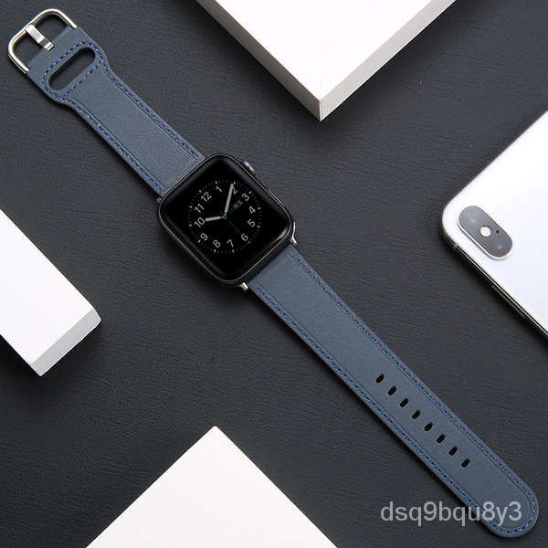 สาย applewatch iwatch5 สายหนังสร้างสรรค์ applewatch6 / SE / 4/3 สายรัดบุคลิกภาพหนังแอปเปิ้ลสองสามสี่และห้ารุ่นสายนาฬิกาฤ