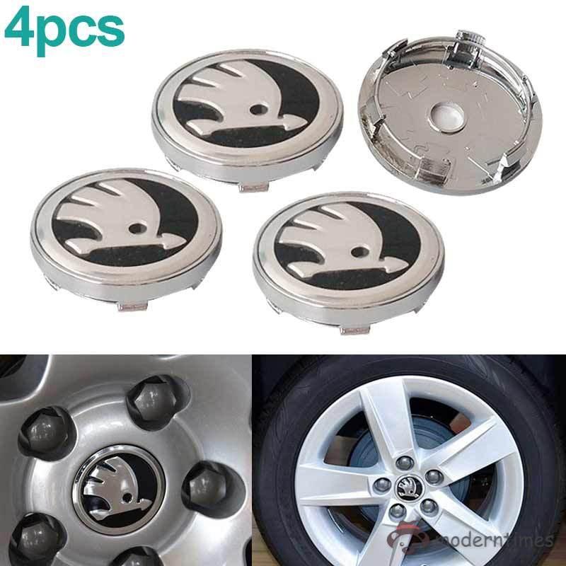 RS Wheel Center Caps Alloy Logo Badge Emblem Center Hub Cap Set 60mm Red