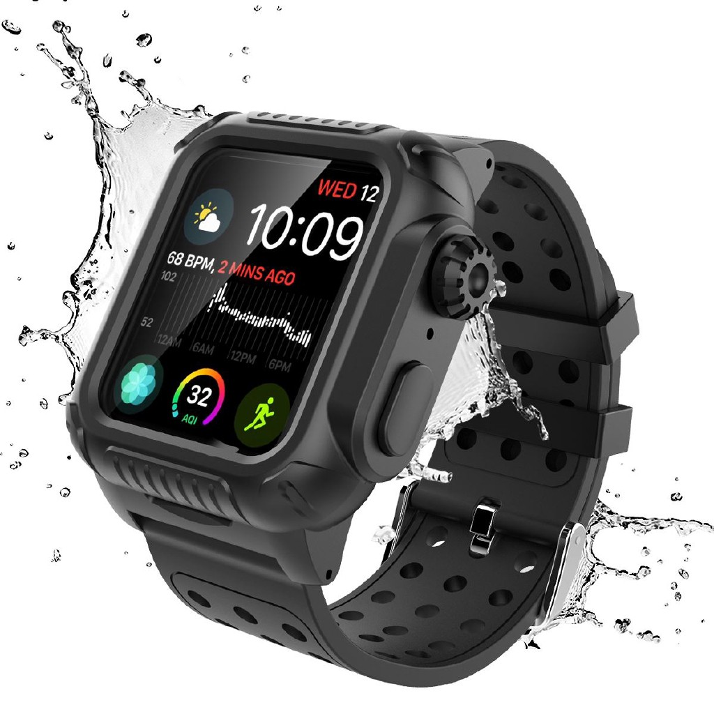 Apple Watch iWatch Series 4 5 6 40mm 44mm Band Case 360 Degree Cover Built-in Screen Protector Case dJzj