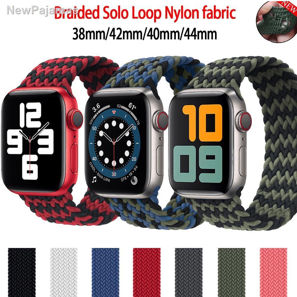 ⚡สาย applewatch newest Woven Solo Braided Loop Watch strap for apple 6 se 40 มม 44 42 38 iwatch series 5 4 3 2 1