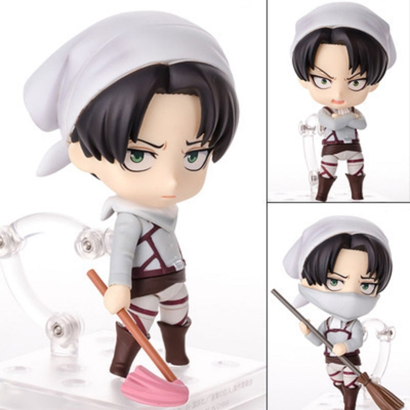 Anime 10CM Game Attack on Titan Eren Jaeger 375 Levi Rivaille Ackerman 390 417 Cleaning Ver. VC Action Figure Collection