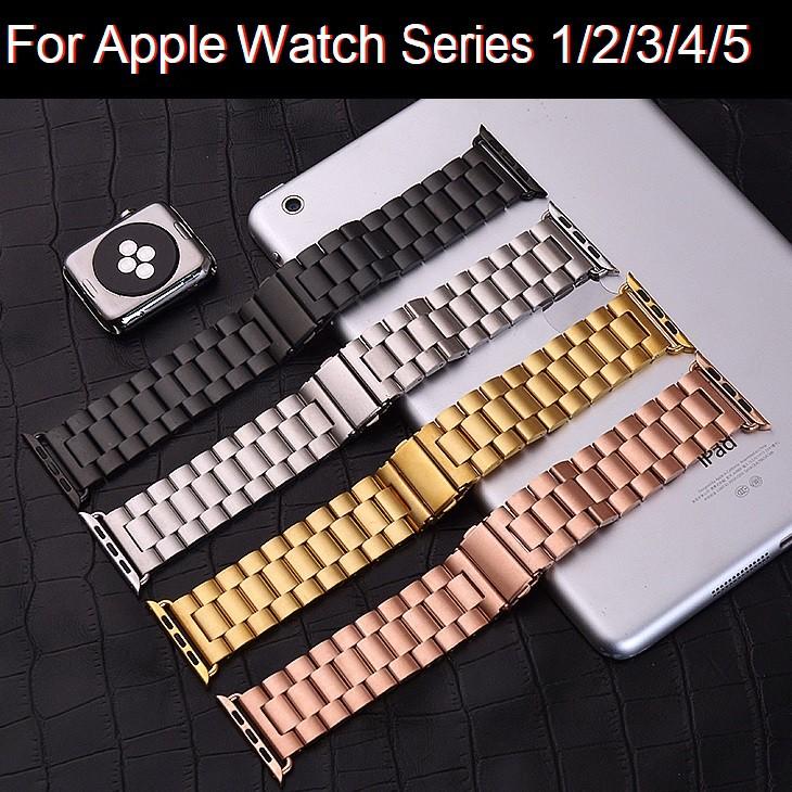 สายนาฬิกา Luxury สายนาฬิกา Apple Watch Series 2/3/4/5/6 Strap Apple Watch SE สาย Stainless Steel Watchband for iWatch 38