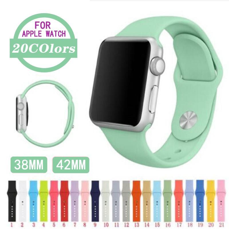 สาย applewatch สายซิลิโคนสำหรับ Apple Watch Band Series 4/3/2/1 ขนาด 38mm 40mm 42mm 44mm